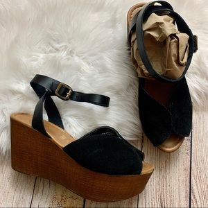 Seychelles Laugh More Suede Wedge Platforms